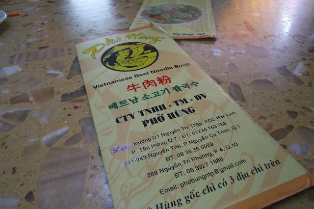pho hung menu