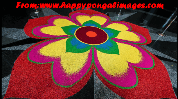 Mattu Pongal Kolam designs