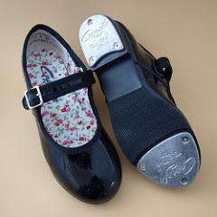 Zapatillas de niña para bailar tap, negro