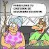 Colocando cinturón de seguridad a la suegra