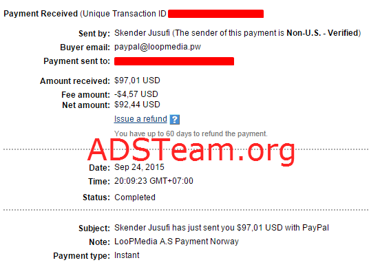 LooPMedia Payment Proof