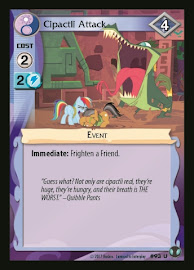 My Little Pony Cipactli Attack Defenders of Equestria CCG Card