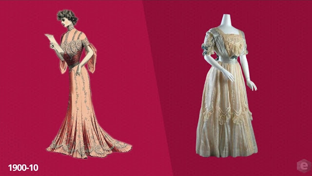 moda década de 1900 - 1910