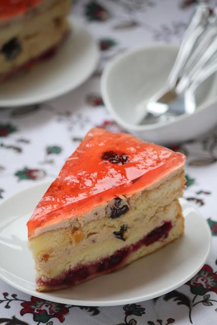 tort, masa serowa, biszkopt