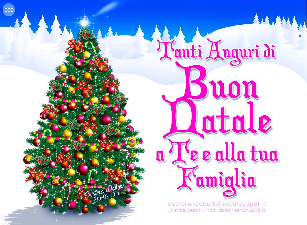 Auguri Di Buon Natale Alla Famiglia.Cdb Cartoline Per Tutti I Gusti Cartolina Cari Auguri Di Buon