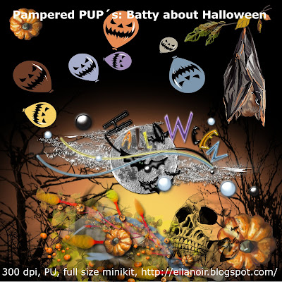 Pampered PUPs Train: BATTY  ABOUT  HALLOWEEN