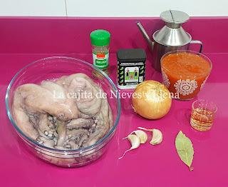 Ingredientes Pulpo de Salobreña