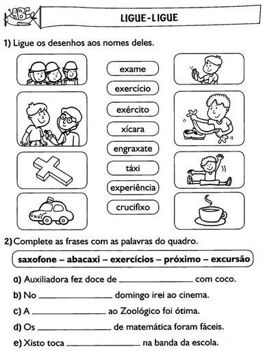 Atividades De Portugues 2 E 3 Anos Alfabetizacao Exercicios Para