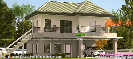 Kerala model green roof home