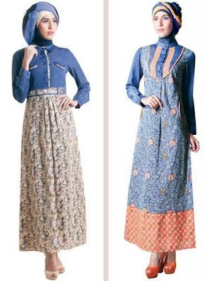 model baju batik modern hijab populer