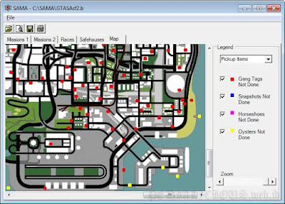 Peta San Andreas Mission Analyzer Map
