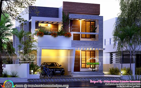 4 BHK contemporary residence architecture