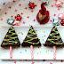 Adventskalendertürchen # 14 Tannenbäume am Stil aus Brownies