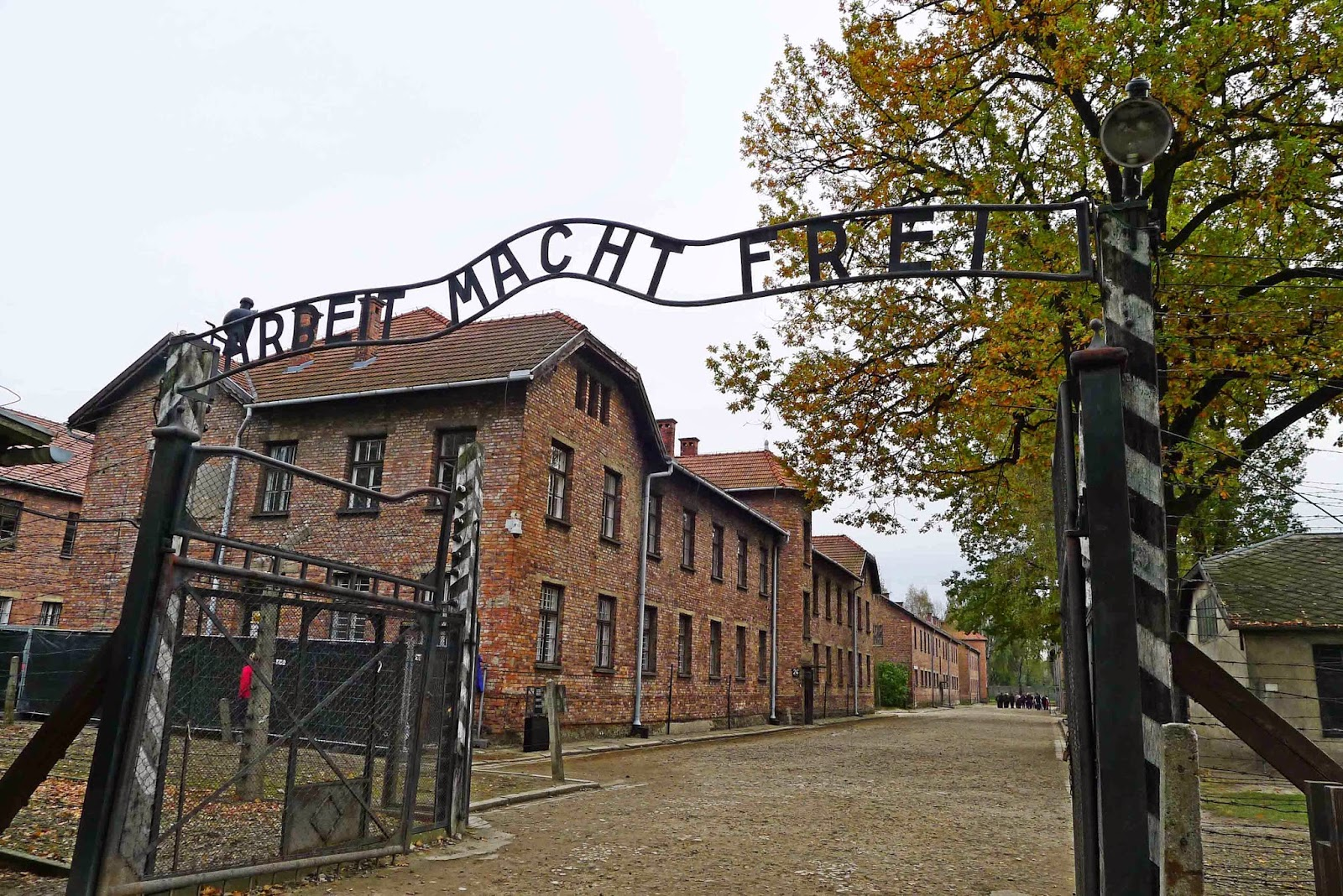 Auschwitz Gate Work Sets You Free