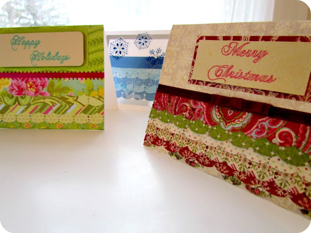 DIY Christmas Card, DIY Holiday Card, Ruffled Card, Scalloped Card, Martha Stewart Punch