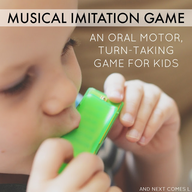 Oral motor music game for kids that teaches turn taking skills