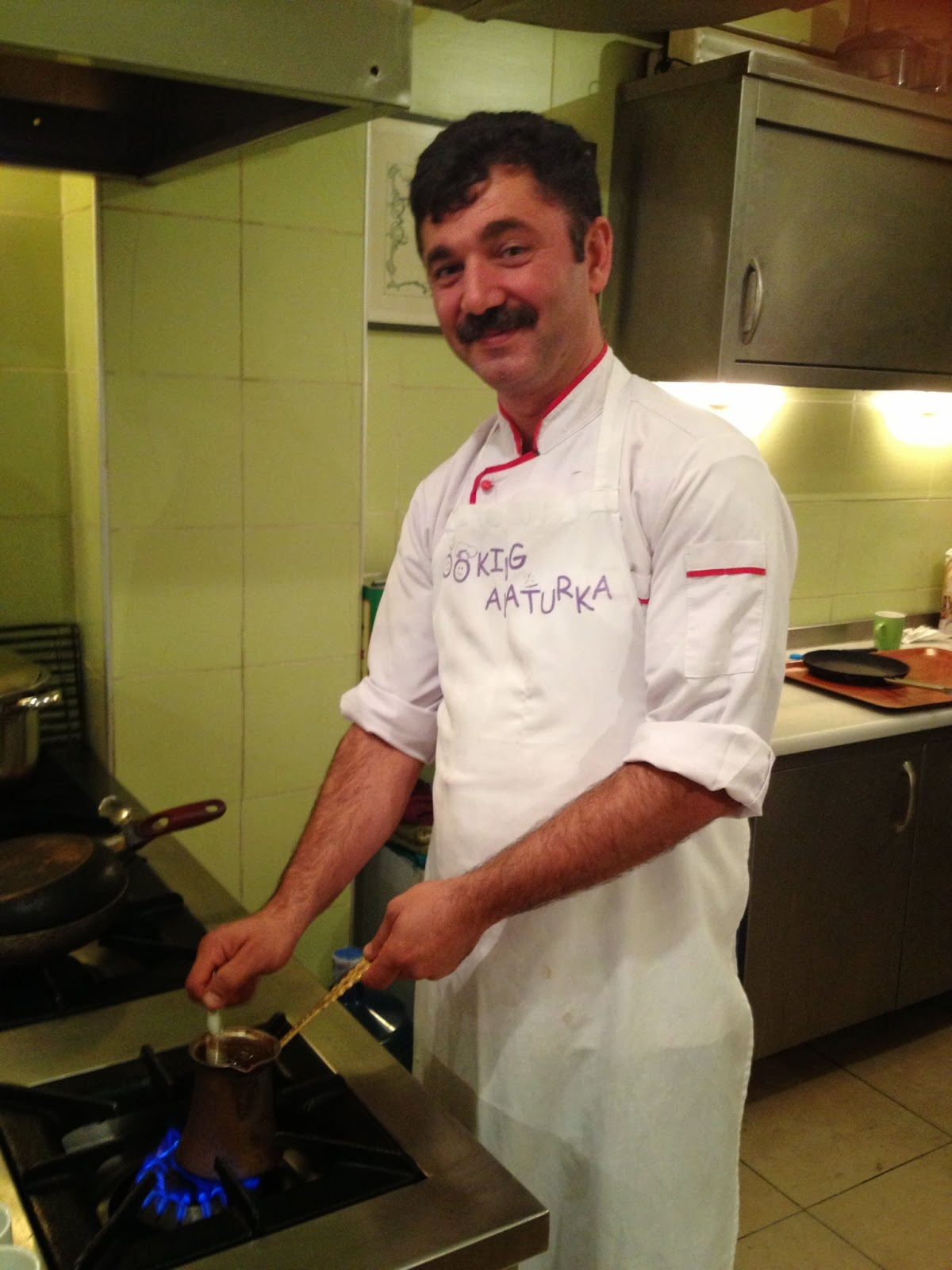 Istanbul - One of our instructors makes Turkish coffee