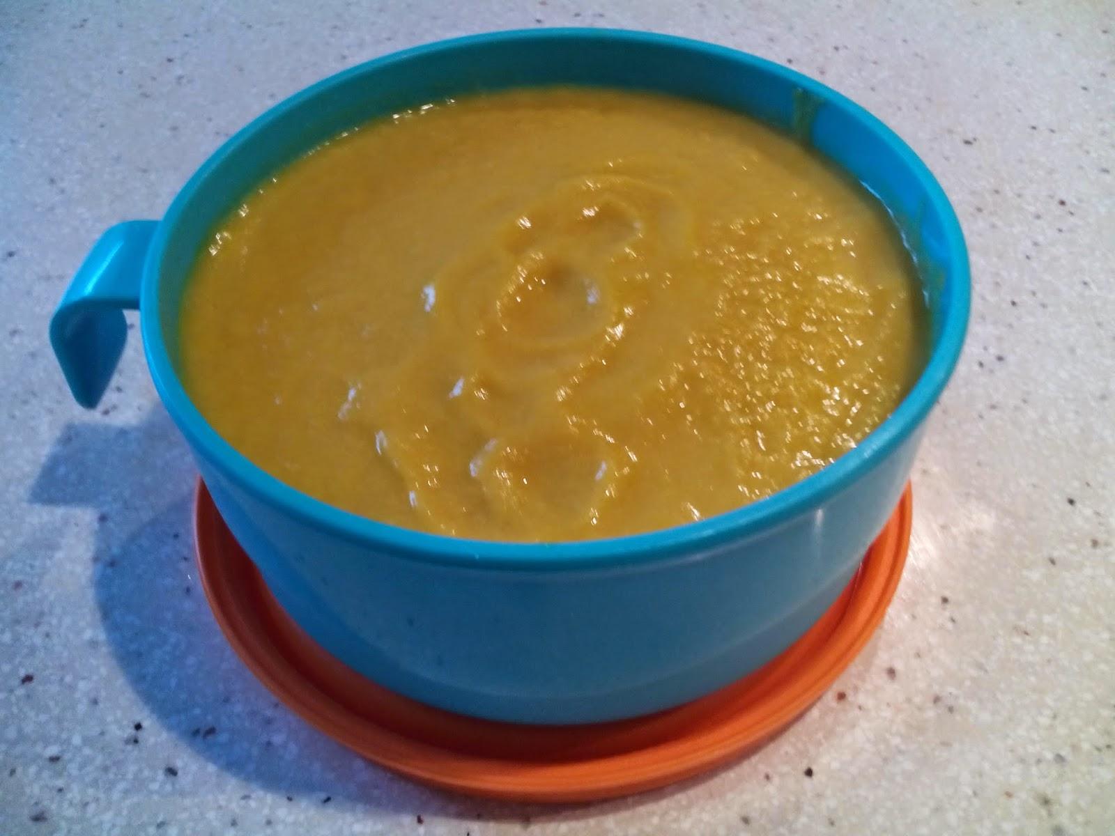 Puré de Pollo y Verduras (Puerro, Zanahoria, Calabacín, Judías, Calabaza,Tomate)  Thermomix (También para Bebés)
