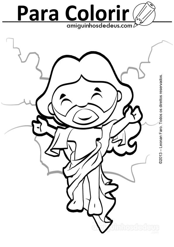 a ressurreição de jesus desenho amiguinhos de deus