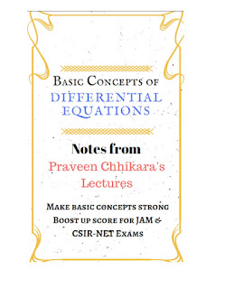 DIFFERENTIAL EQUATION HAND WRITTEN NOTE