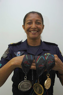 Inspetora da Guarda Municipal de Maceió (AL) participa de competição nos EUA