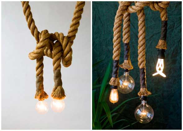 lamparas, decoración, cuerda, proyectos, ideas, decoración