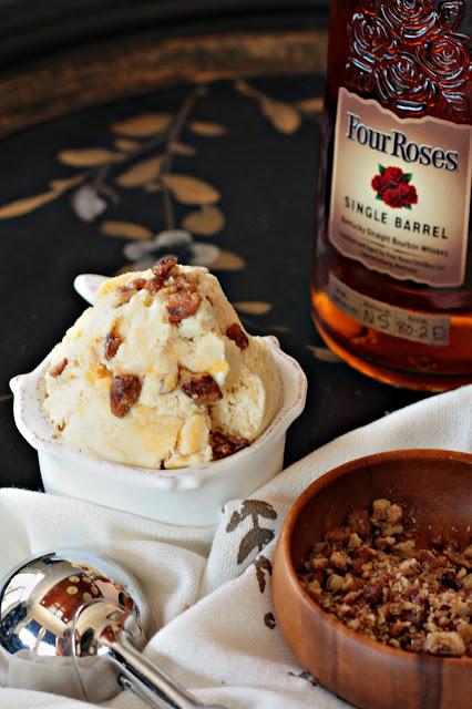 bourbon brown butter peach ice cream