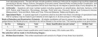 UP Mes Mate General Intelligence & Reasoning Syllabus