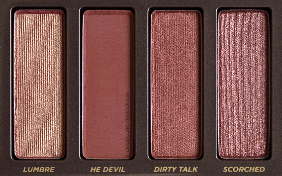 Urban Decay Naked Heat Palette Review Lumbre He Devil Dirty Talk Scorched