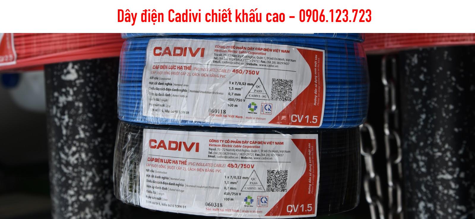 1 Cuộn dây điện Cadivi bao nhiêu mét?