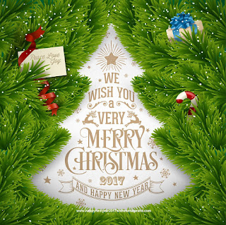 Merry Christmas Tree happy New Year 2017 Wishes