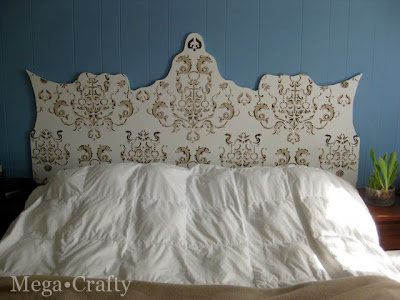 Mega Crafty Stenciled Headboard Reveal And Tips For Using Cutting