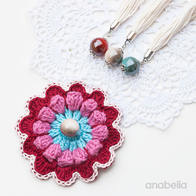 Flower crochet motif 3 by Anabelia Craft Design
