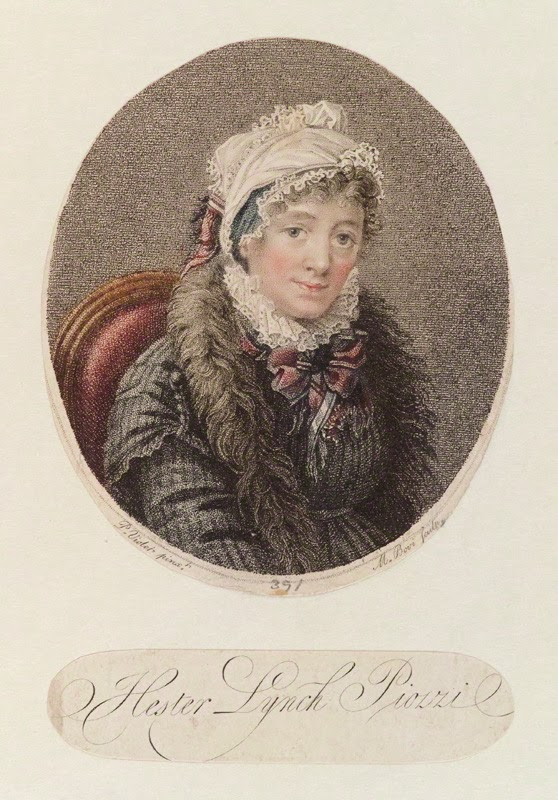 Hester Lynch Piozzi by Mariano Bovi, 1800