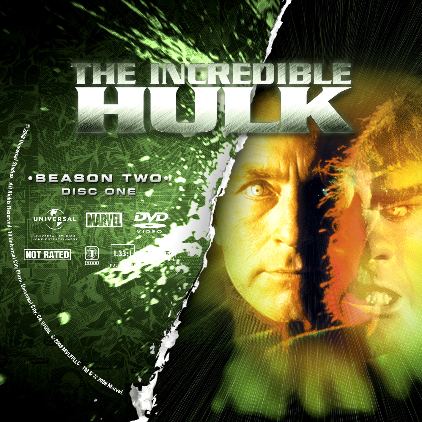 Labels DVD The Incredible Hulk Segunda Temporada Completa D1 a D5