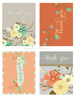 free floral thank you cards