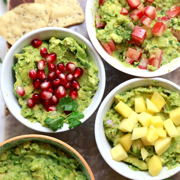 Easy Basic Guacamole and 4 Variations