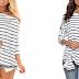 $6.80 (Reg. $16.99) + Free Ship Women's Stripe Shirt!