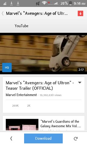 download youtube video in android phone
