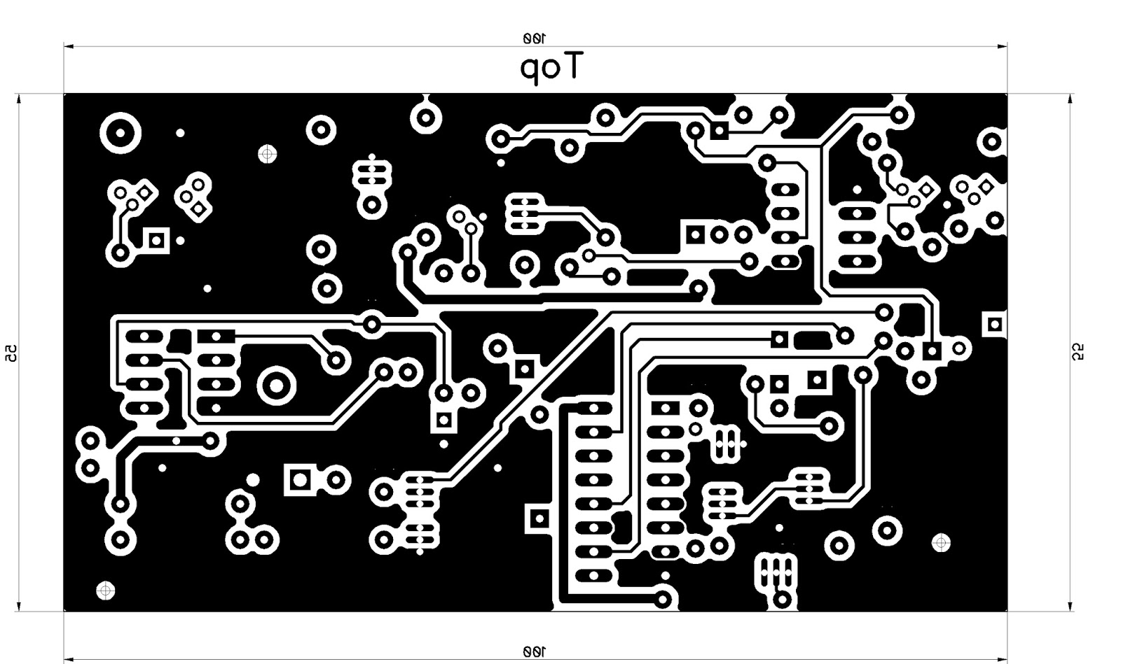 Alien Transducer Double Sided Pcb Tutorial Circuitboards Living Room Things Pinterest Printed Circuit The Diagram Is Created Using Diptrace I Find It Much Easier To Use Than Eagle You Can Print Directly From But Prefer Exporting Top