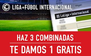 sportium Fútbol: Haz 3 Combinadas y recibe 1 Gratis 15-17 febrero