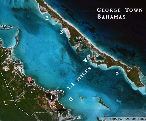George Town Map on Lake George Island Map
