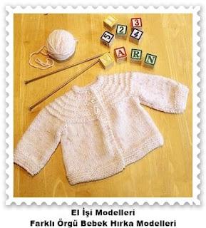 Örgü Bebek Hırka Modelleri 7