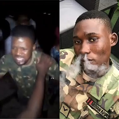 Dismissed Soldier Who's Terrorizing People In Lagos Nabbed
