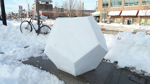 snow dodecahedron