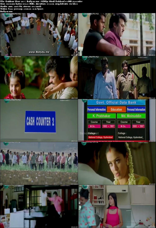 Gabbar Sher 2 2017 DTHRip 800MB Hindi Dubbed x264 Download