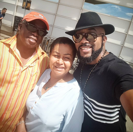 Banky W shares sweet photo with his parents