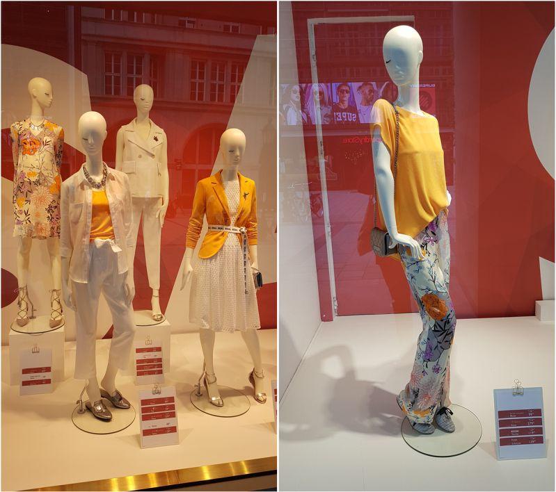 Schaufenster Inspiration Sommermode 2018 München