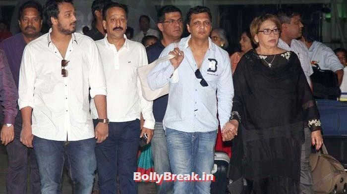 Helen, Bollywood Celebs at Airport to Attend Arpita Khan's Wedding