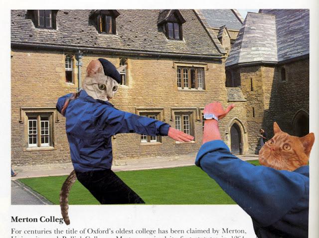 Cat people collage by C. Mazzie-Ballheim